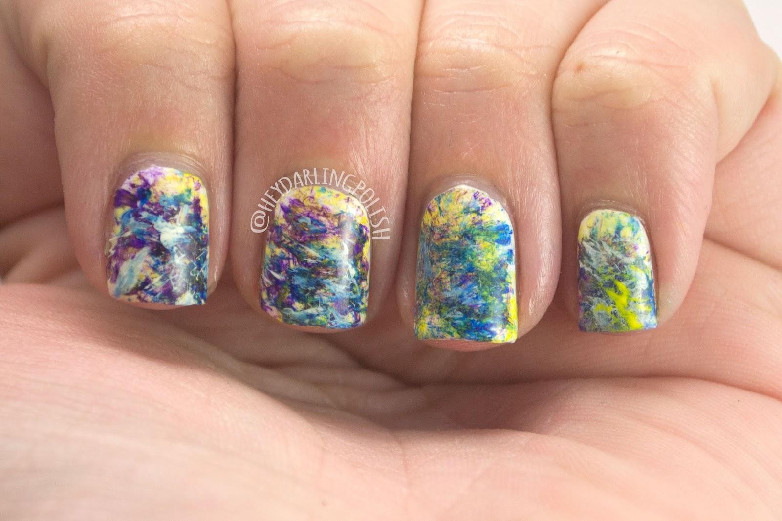 nails, nail art, nail polish, hey darling polish, art, painting, abstract, 31 day challenge, 31dc2014