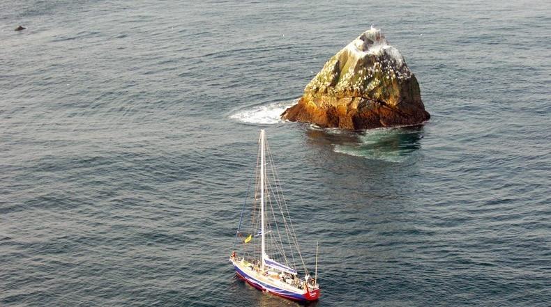 Rockall, un aislado islote rocoso reclamado por cuatro naciones