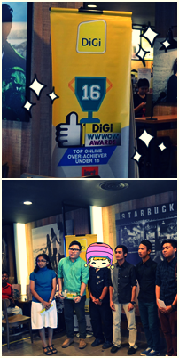 ZakieAzid at Digi WWWWOW awards 2013