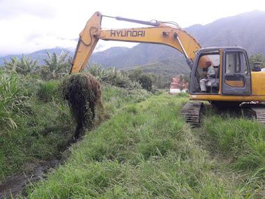 Construsmérida ejecuta trabajos de mantenimiento en caños del Valle del Mocotíes