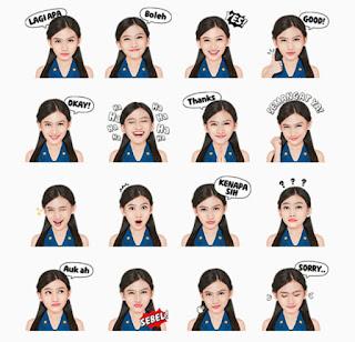 Melody-JKT48-Sebagai-Sticker-di-Line