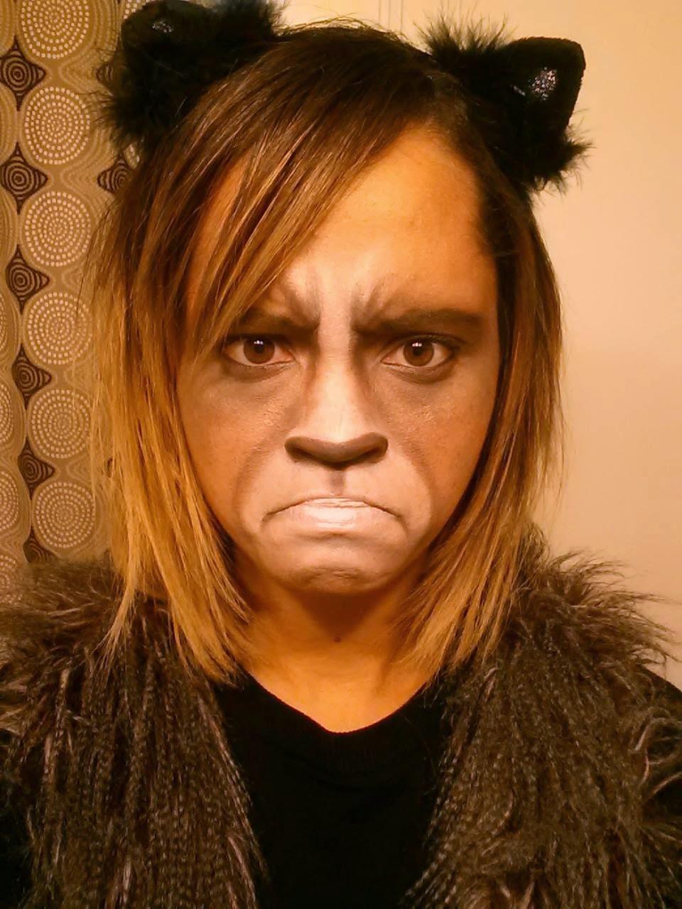 Grumpy Cate Halloween Make-up