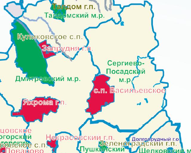 Район в жёлтой зоне по чистоте, Васильевское – в красной