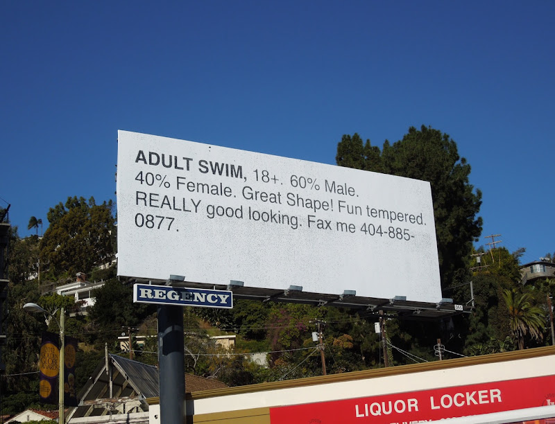 Adult Swim Fax Me billboard