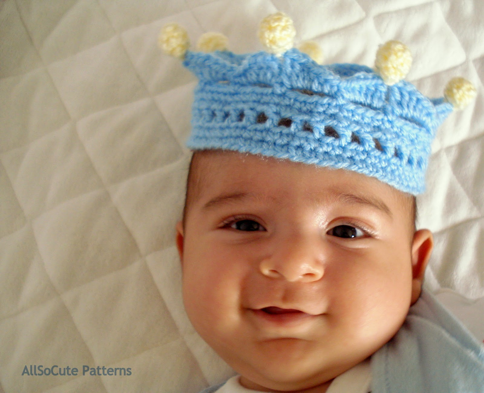 AllSoCute Amigurumis: Crocheted Crown, Crochet Crown Pattern, Baby ...