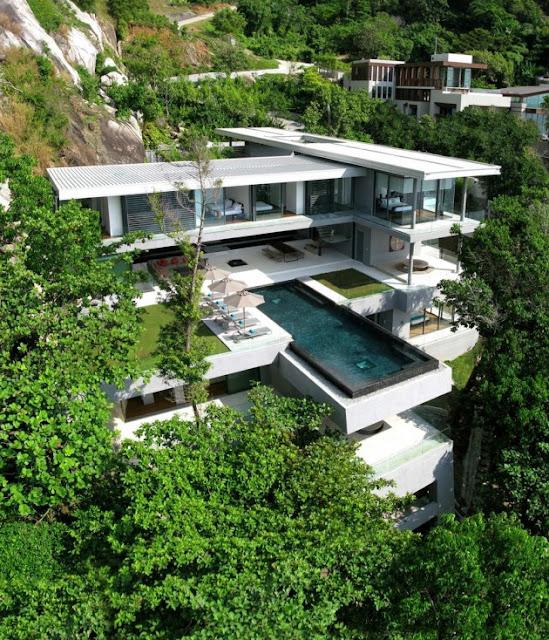 Villa Amanzi en Phuket, Thailand.