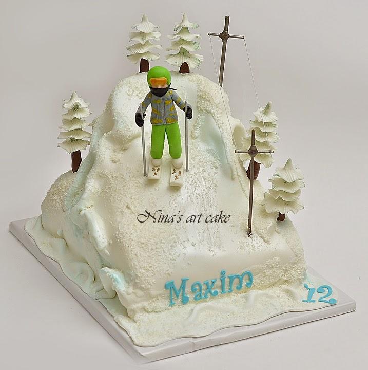 "Tort ""La schi"" pentru Maxim"