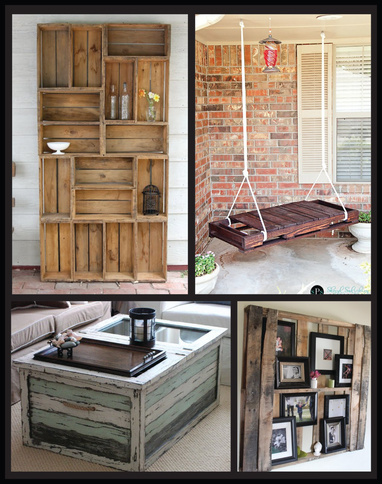 Home office on pinterest window seats bookshelves and wooden crates Wooden crates furniture