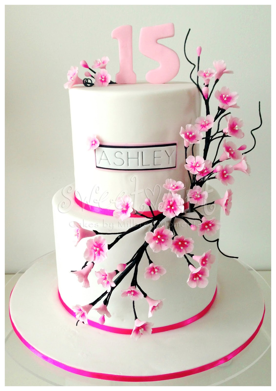 Sweet Art Cakes by Milbre Moments Ashleys Cherry Blossom 15th