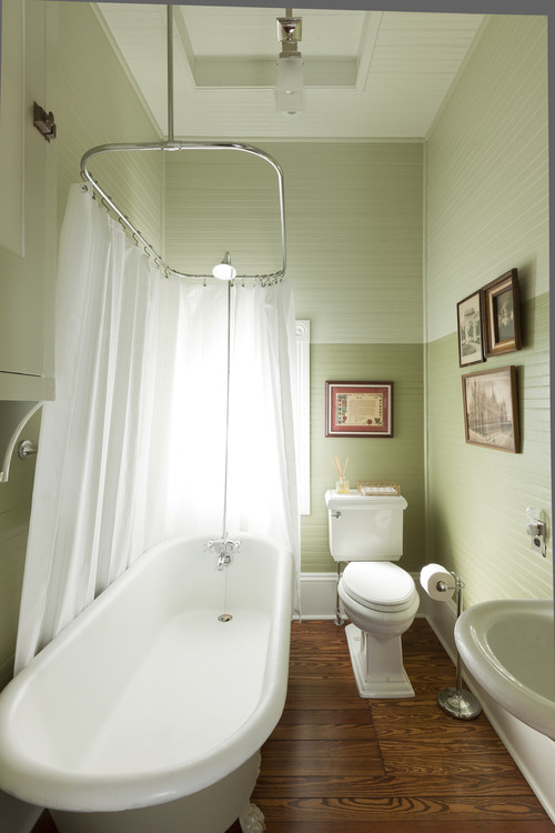 Trend homes small bathroom decorating ideas for Tiny bathroom shower ideas