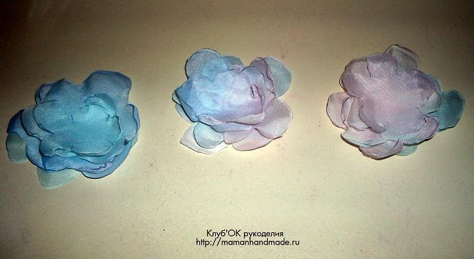Как сделать цветы из ткани своими руками