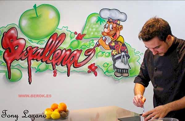 Graffiti cocinero