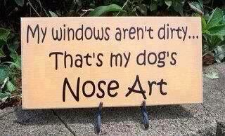 My windows aren't dirty... That's my dog's Nose Art