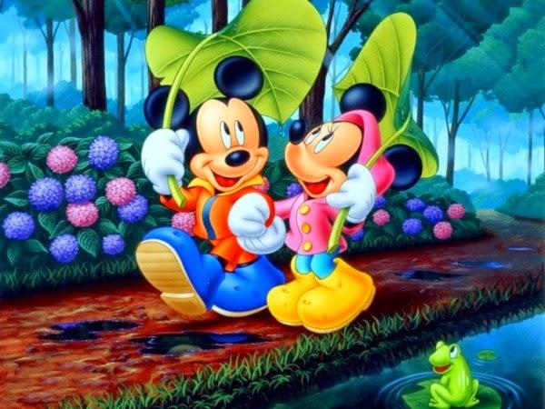 gambar mickey mouse dan minnie mouse