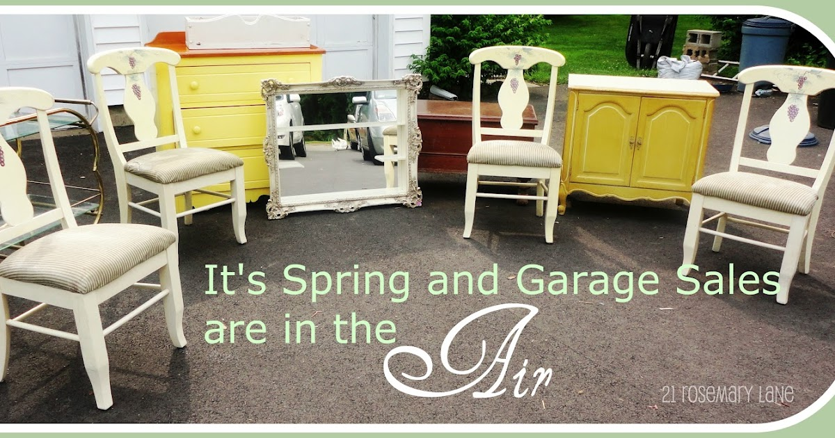 21 Rosemary Lane Tips For Buying Furniture At Yard And Garage Sales