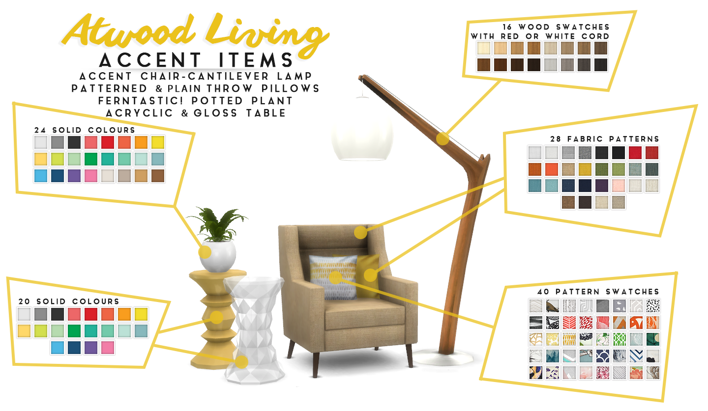 Simsational designs updated atwood living lounge room for The atwood