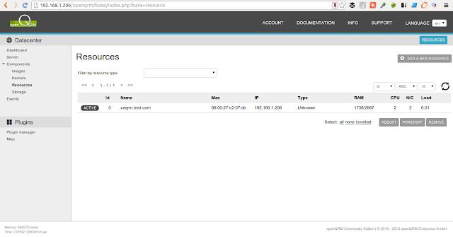 DriveMeca instalando openQRM en Centos 6.4