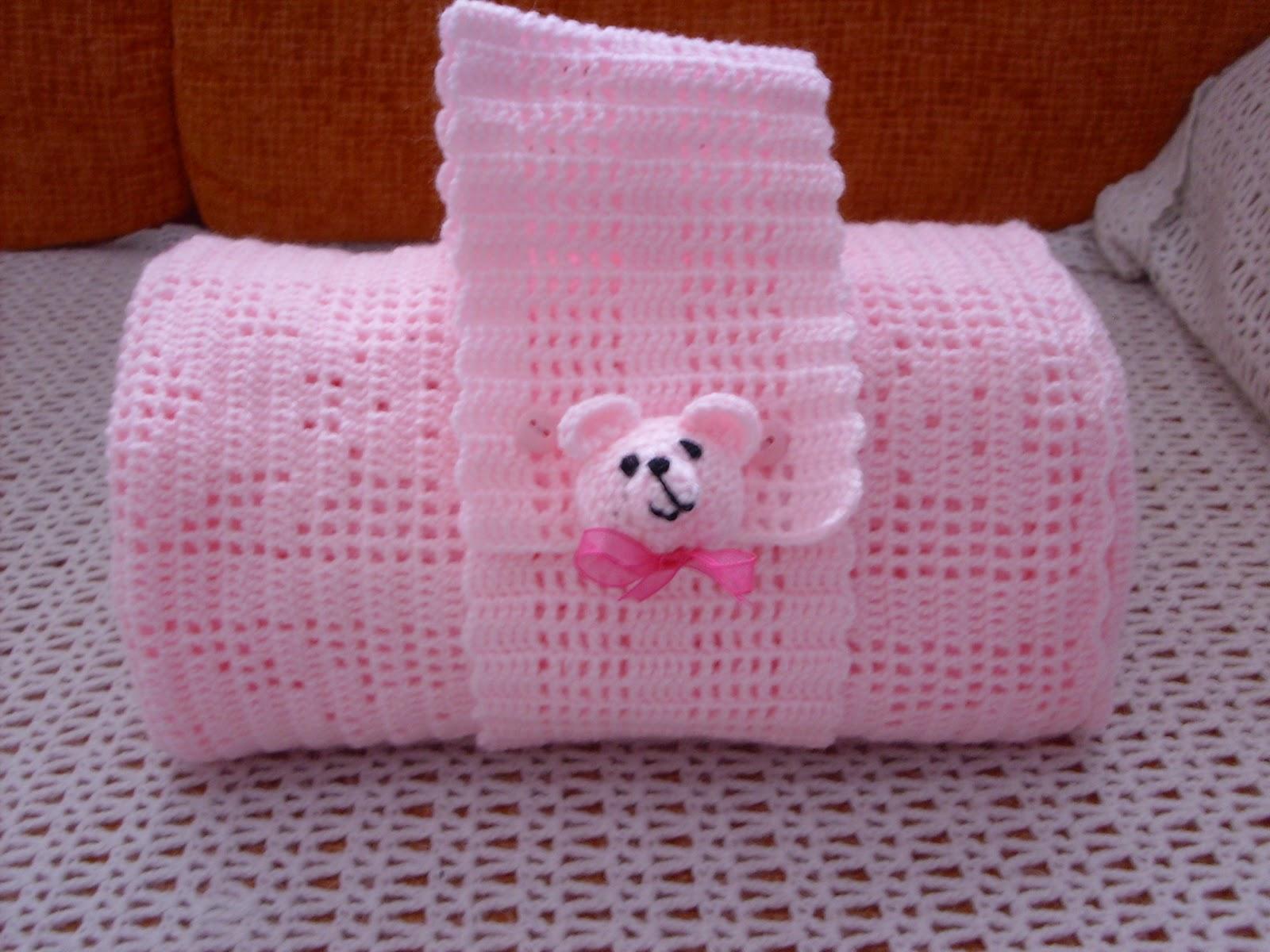 Cositas a ganchillo manta a crochet de ositos - Como tejer mantas al crochet ...