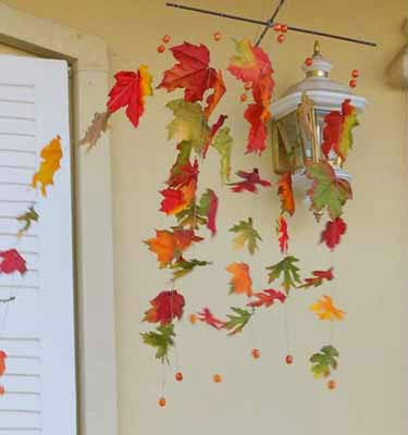 image of kids crafts from leaves