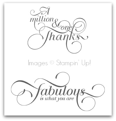 Stampin' Up! Million & One Stamp Set Artwork