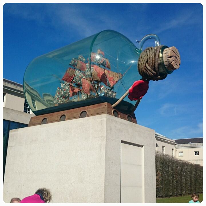 ship in a bottle in greenwich park