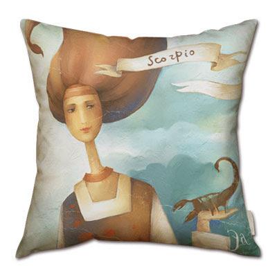 signo del zodiaco escorpio en almohada