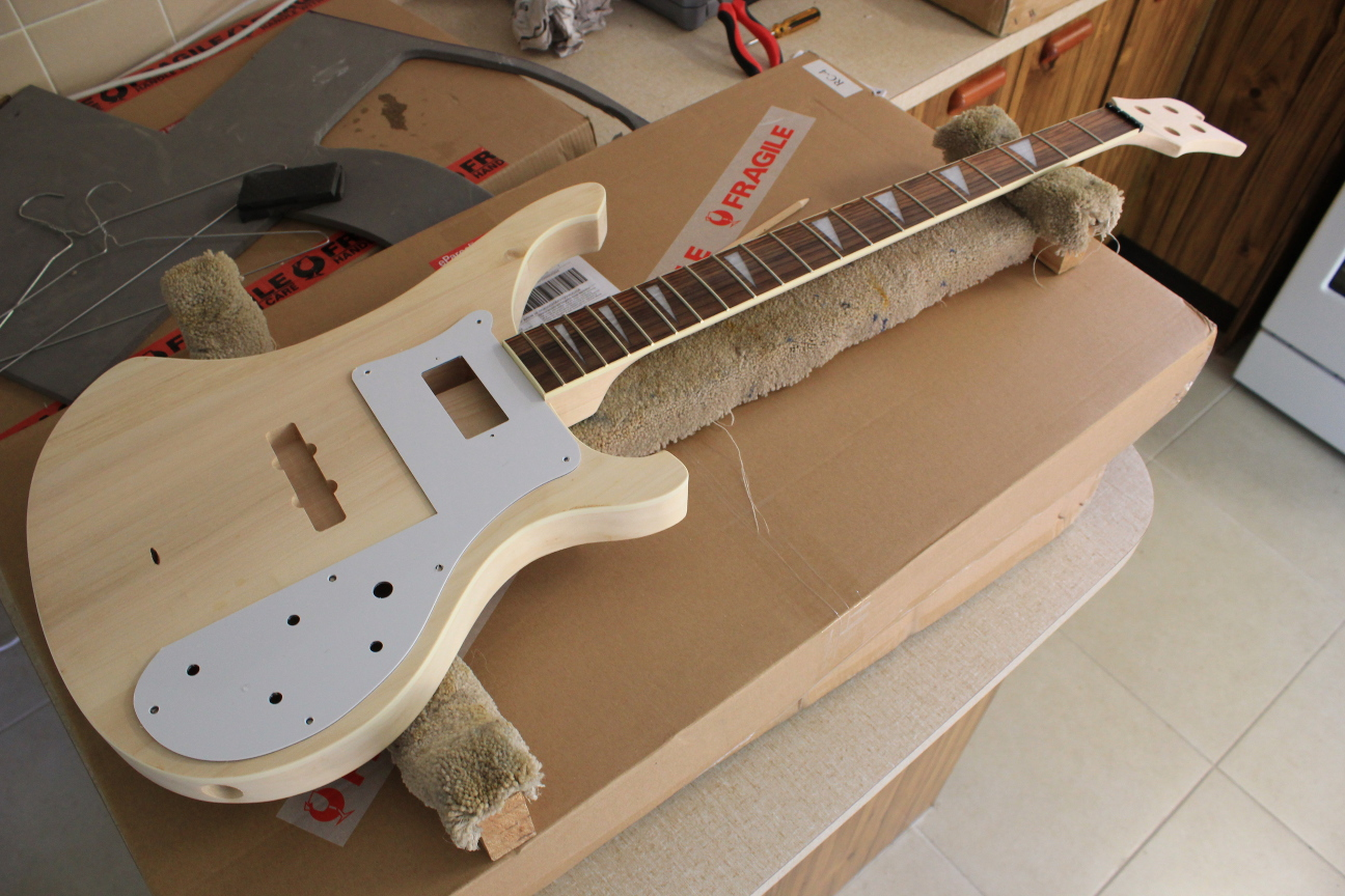 Guitar kit builder ricky 4001 bass unboxing mock build mock build without the bridge is just a neck solutioingenieria Choice Image
