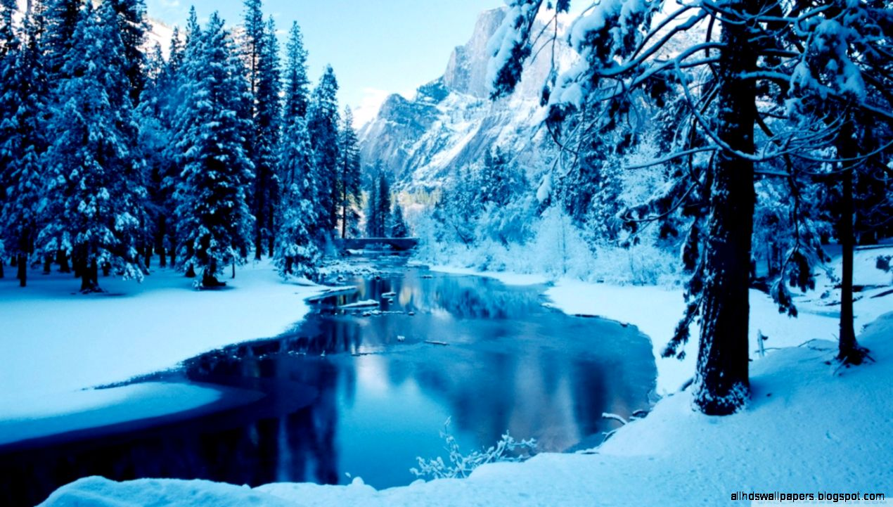 Blue Winter Landscape HD desktop wallpaper  High Definition