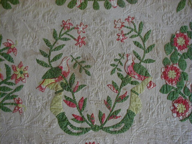 Baltimore garden quilts: may i interrupt your quilting design?