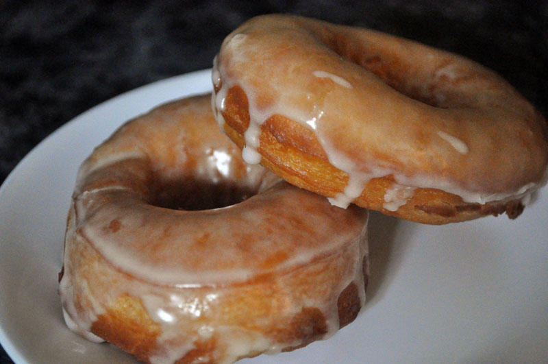 Homemade Glazed Doughnuts Recipe — Dishmaps