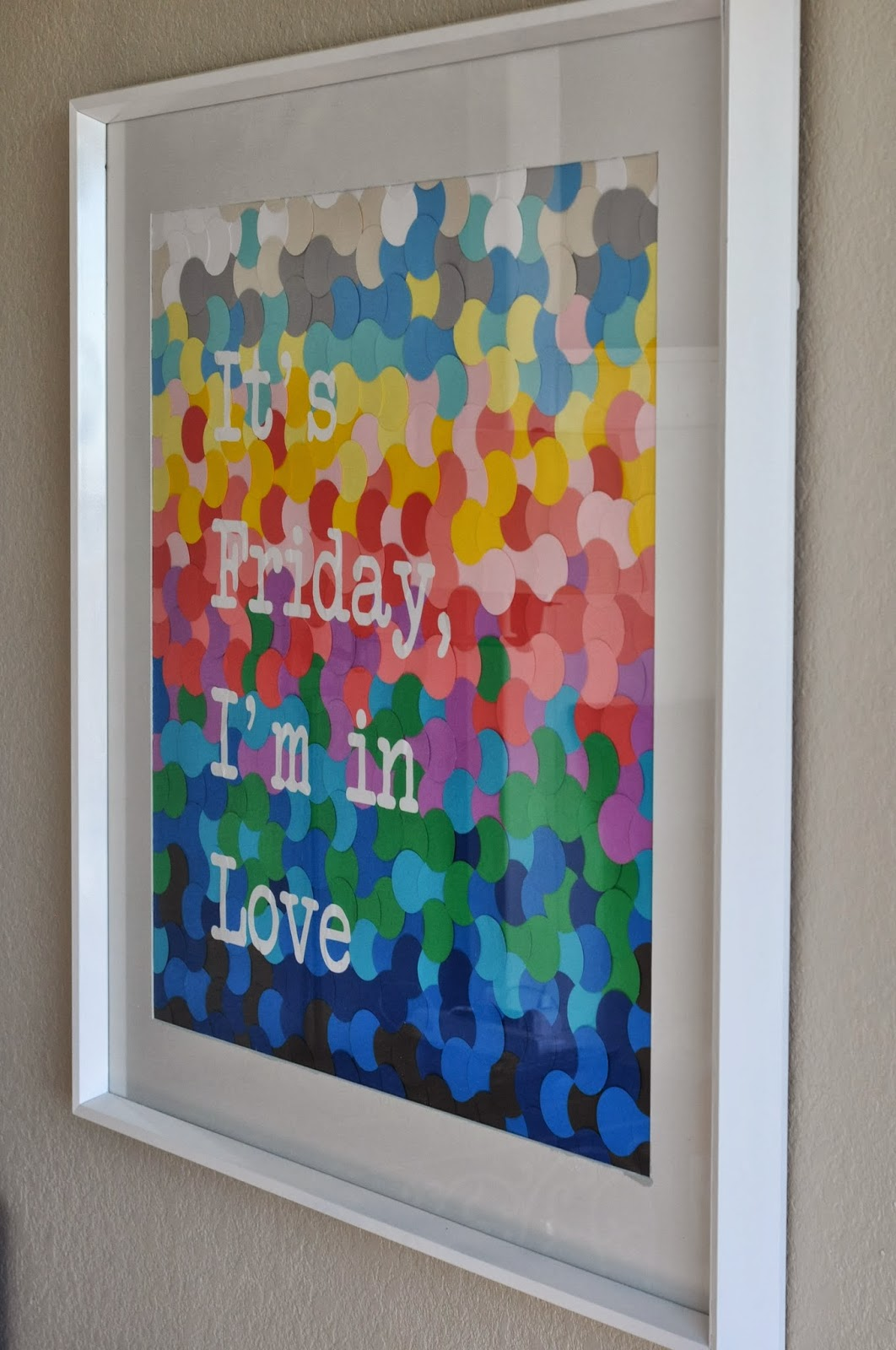 Wall Decor With Scrapbook Paper : Decor sanity it s friday i m in love scrapbook paper