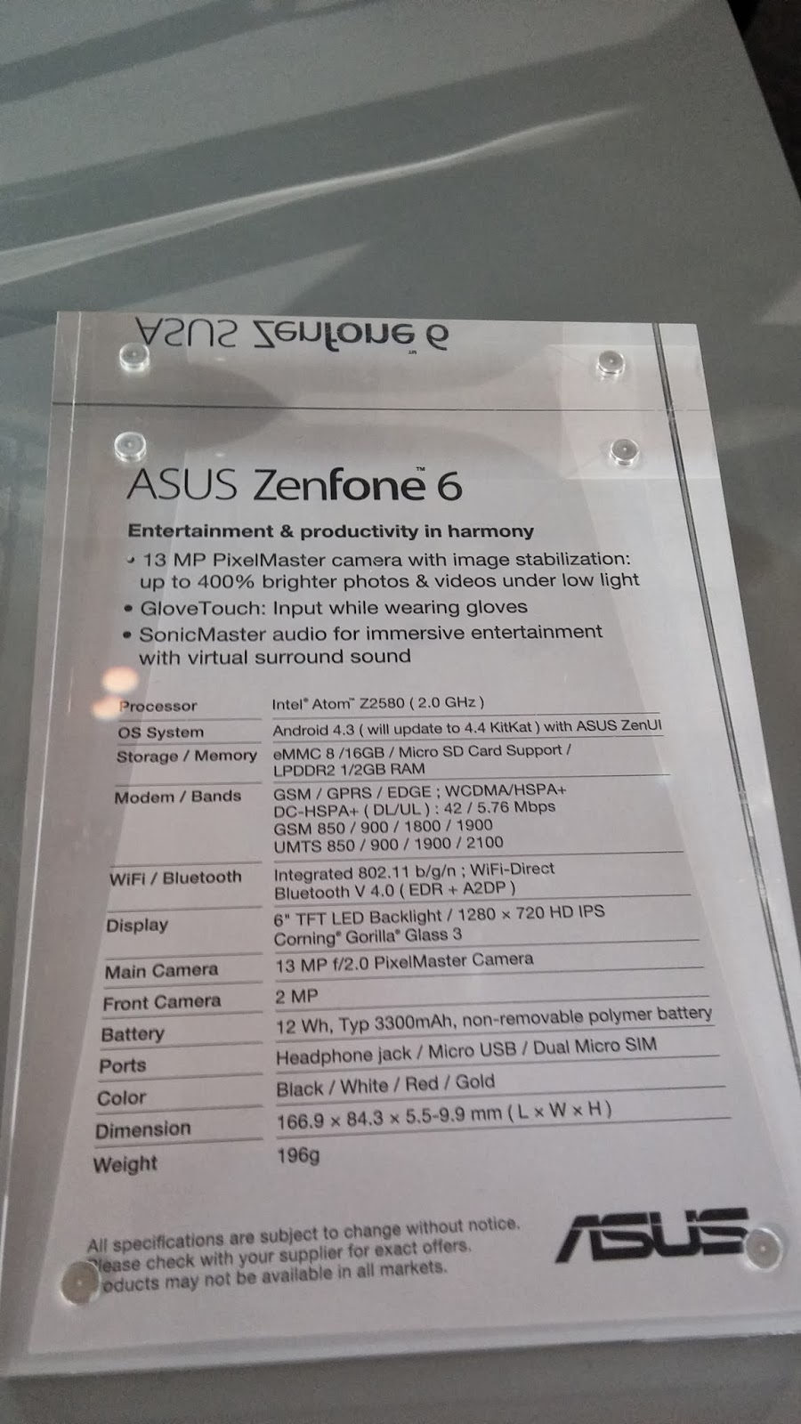 "Smartphone de 6"" de Asus"