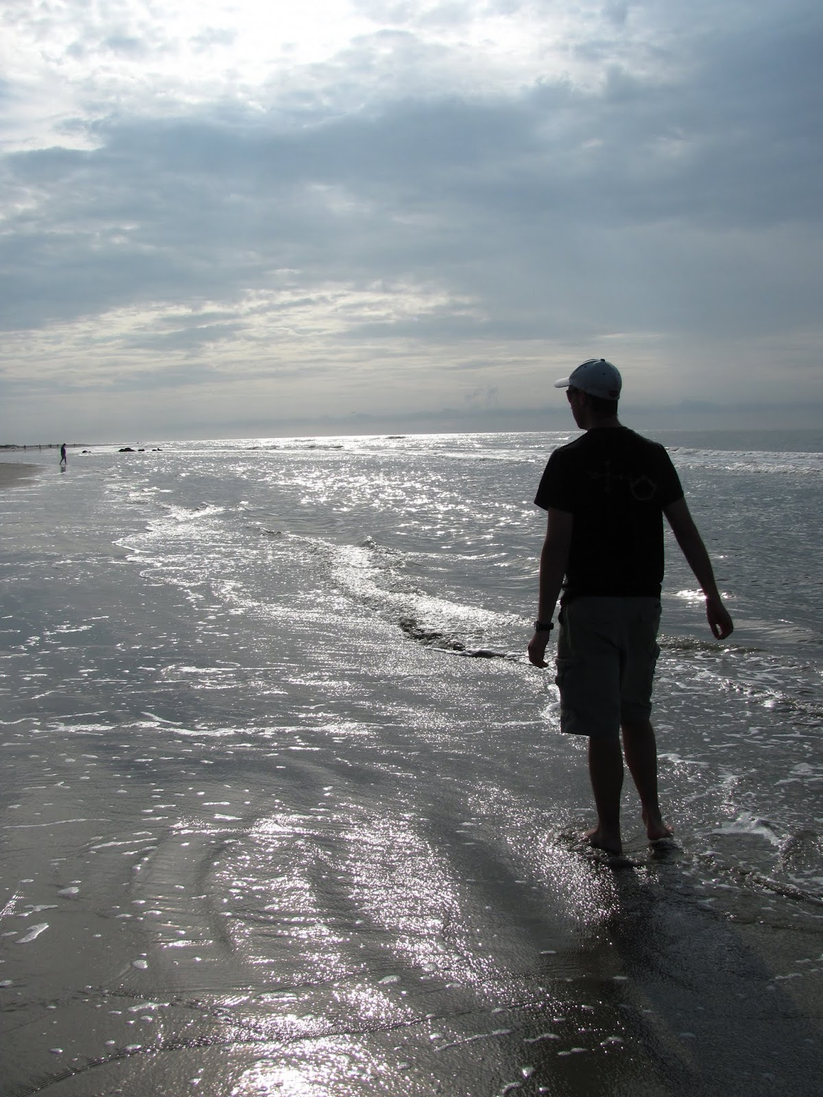 Wading in the surf near Charleston, SC