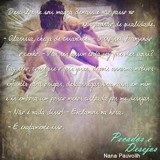 Quote 1 do livro Livro Pecados e Desejos - Nana Pauvolih
