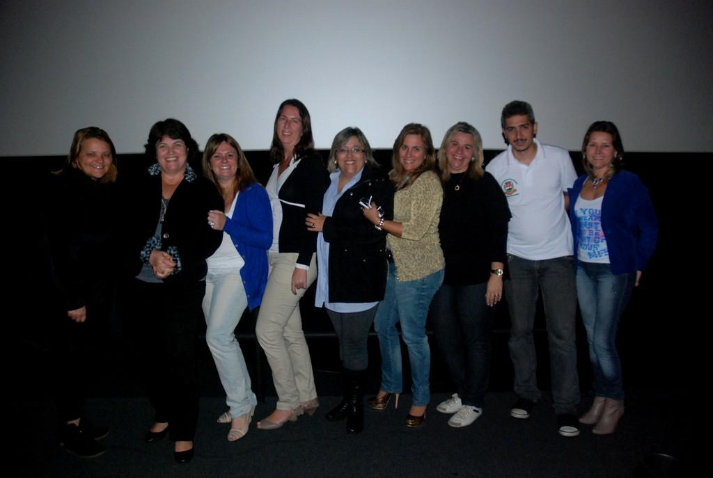 Equipe pedagógica da Secretaria de Educação comemora o sucesso da Criacine 2012