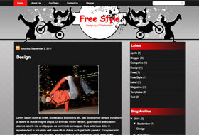 FreeStyle Blogger Template