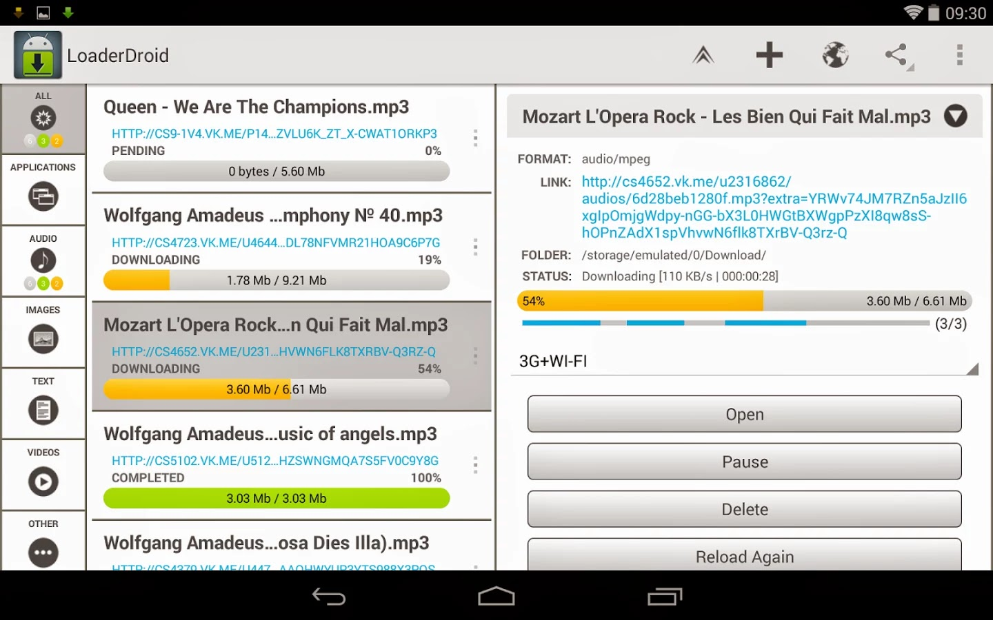 Loader Droid PRO download manager v0.9.9.3