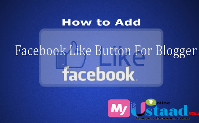 Add Facebook Likes butoton for blogger