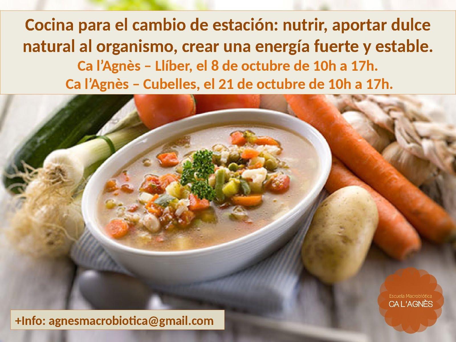 Curso Macrobiótica de otoño: 'Nutrir, relajar y aportar dulce natural al organismo'