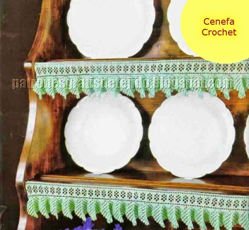 Puntilla tejida al crochet para decoración