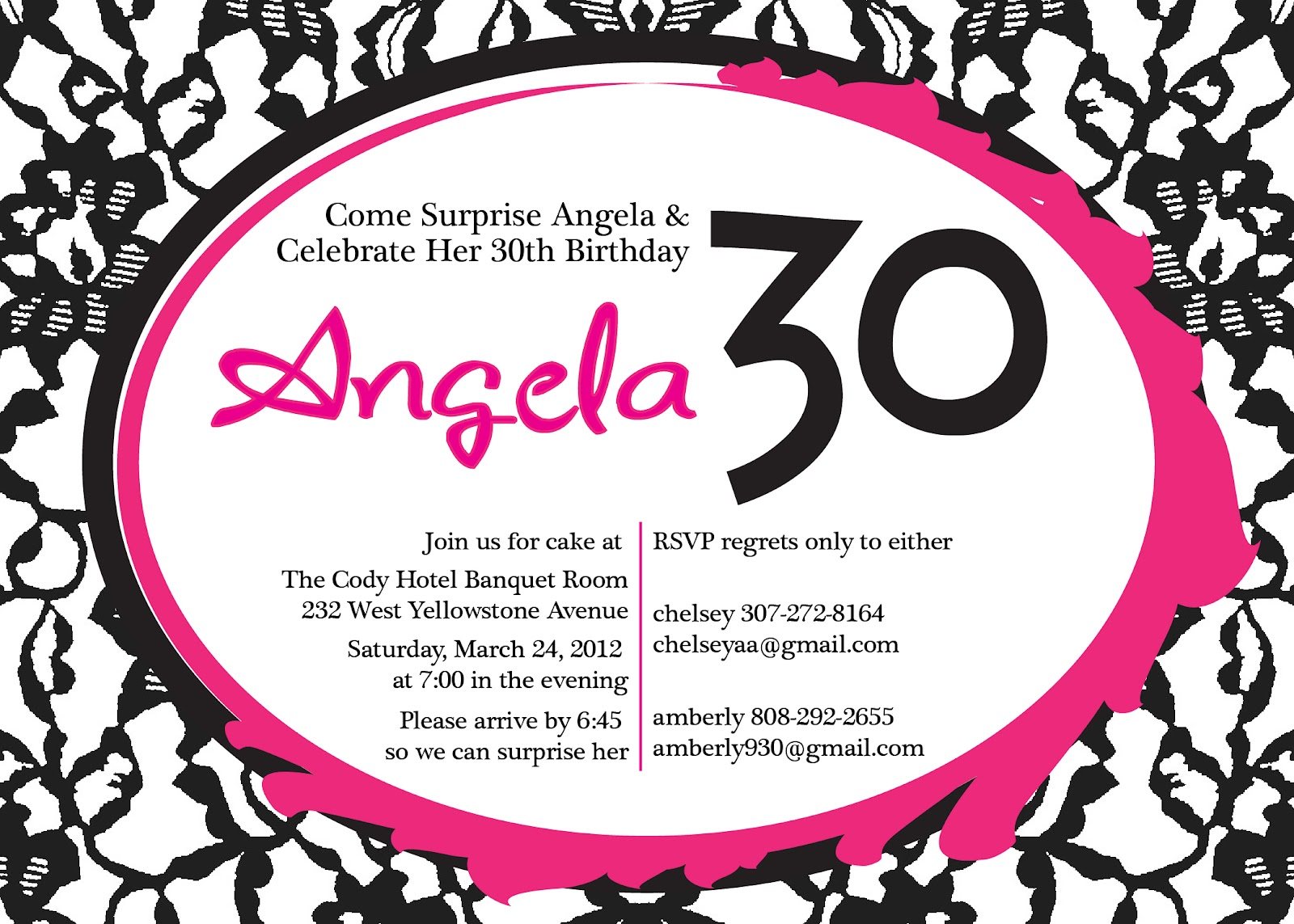 HILLMARK Design: Angela\'s Surprise Birthday Party Invitations