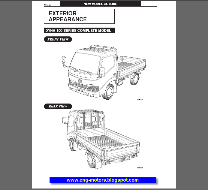 Toyota Dyna 100  150 Service Manual