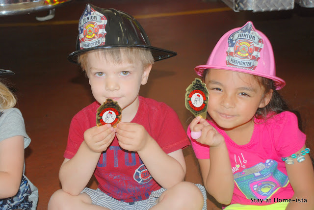 fire man birthday party at a fire station