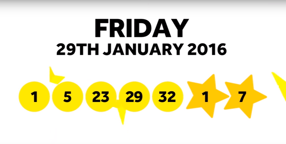 The National Lottery Friday 'EuroMillions' draw results from 29th January 2016