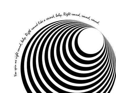 concentric circles poster with text