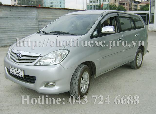 Cho thuê xe du lịch 7 chỗ Toyota Innova G tại Hà Nội