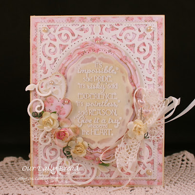 Our Daily Bread Designs, ODBD Custom Ornate Hearts Die Set, ODBD Custom Beautiful Borders Die Set,  Love You Bunches