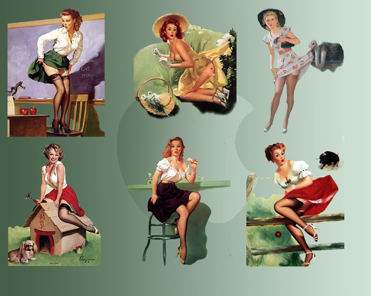 Pin Up Girl Wallpaper