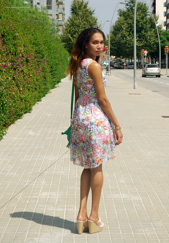 Paradise Island Floral Print Dress from WalG