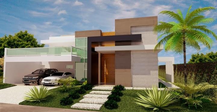 ideias jardins moradiasFotos e dicas de fachadas de casas sem telhado
